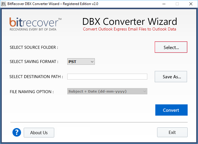 add .dbx files to export as pdf