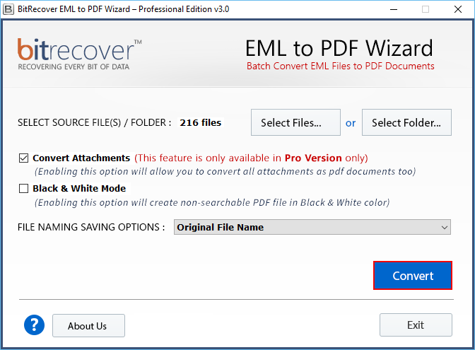 create pdf from eml